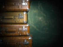 Vintage suitcases on the grunge background. Turism travel concep Royalty Free Stock Photography