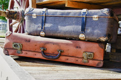 Vintage suitcases - HDR. Vintage suitcases - Travel accessories - Old-fashioned Stock Photography