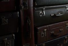 Vintage suitcases Stock Photos
