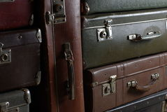 Vintage suitcases Stock Photos