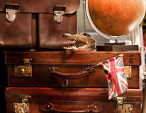 Vintage suitcases stock image
