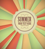 Vintage Summer Background Stock Photo