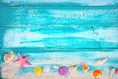 Vintage summer beach background stock photography