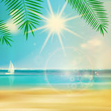 Vintage summer beach design. Stock Photo