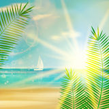 Vintage summer beach design. Stock Photography