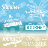 Vintage summer calligraphic elements design labels Stock Images