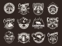 Free Vintage Summer Camping Logos Royalty Free Stock Photo - 149087325