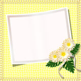 Vintage summer framework. For invitation or congratulation Stock Photos