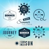 Vintage summer holidays typography design Royalty Free Stock Photos