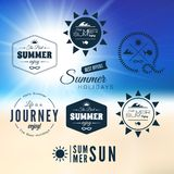 Vintage summer holidays typography design Royalty Free Stock Photography
