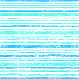 Vintage summer pattern. Grungy texture. Blue, mint, green stripe Royalty Free Stock Image