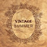 Vintage summer postcard. Vector illustration. Royalty Free Stock Photography