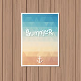 Vintage summer poster Royalty Free Stock Photos