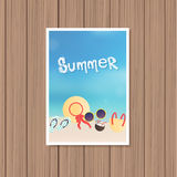 Vintage summer poster Royalty Free Stock Image