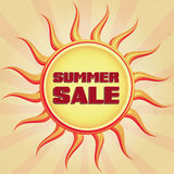 Vintage summer sale Stock Image