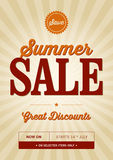 Vintage Summer Sale Design. A vintage poster design for a summer sale Royalty Free Stock Photos