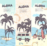 Vintage summer and travel banners Stock Photography