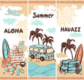 Vintage summer and travel banners Stock Image