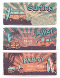 Vintage summer and travel banners Royalty Free Stock Photos