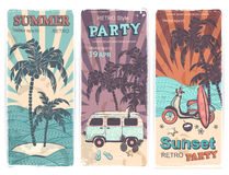 Vintage summer and travel banners Royalty Free Stock Image