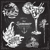 Vintage summer typography design with labels, Royalty Free Stock Image