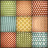 Vintage summer vector seamless patterns (with Royalty Free Stock Photo