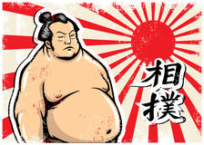 Vintage sumo  design Royalty Free Stock Photo