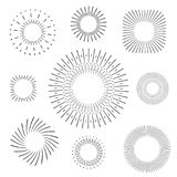 Vintage sun and design elements. Fine texture with round dotted elements Royalty Free Stock Photos