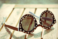 Vintage sun glasses royalty free stock photography