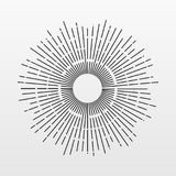 Vintage Sun rays isolated on background. Modern simple flat fireworks sign. Business, internet conc. Ept. Trendy Simple vector starburst symbol for website Stock Photography