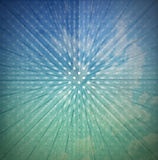 Vintage Sunbeams Abstract Background. Vintage background with green and blue pastel colors, sunbeams stripes and soft circles Royalty Free Stock Photography