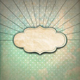 Vintage Sunbeams Background with Label Royalty Free Stock Image
