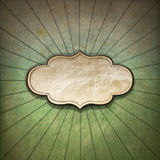 Vintage Sunbeams Background with Label Stock Photo