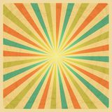 Vintage Sunburst Background Stock Image