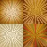 Vintage Sunburst Backgrounds Set Stock Image