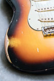 Vintage sunburst double cutaway guitar Royalty Free Stock Photography