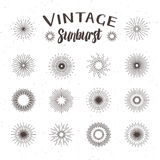 Vintage sunburst. Hipster style stock illustration