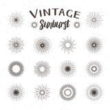 Vintage sunburst. Hipster style Stock Images