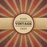 Vintage sunburst promo poster Stock Photo