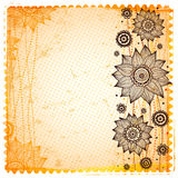 Vintage sunflower background Royalty Free Stock Photography