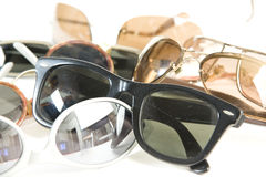 Vintage sunglass on the floor Stock Image