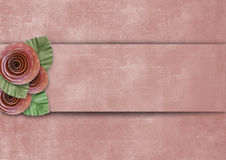 Vintage superb background with roses Stock Photos
