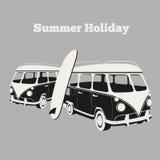 Vintage surf poster vector illustration