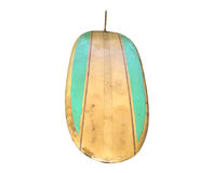 Vintage Surfboard isolated on white Royalty Free Stock Photography