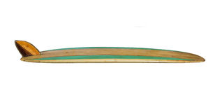 Vintage Surfboard isolated on white Stock Photography