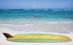 Vintage Surfboard  on white Royalty Free Stock Photo