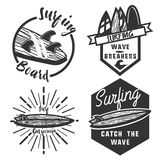 Vintage surfing emblems Royalty Free Stock Photography