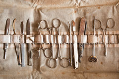 Vintage surgical instruments Stock Photo