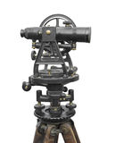 Vintage surveyor's instrument isolated. Stock Photography