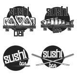 Vintage sushi bar emblems. Sushi Bar. Vector illustration, EPS 10 Royalty Free Stock Photography
